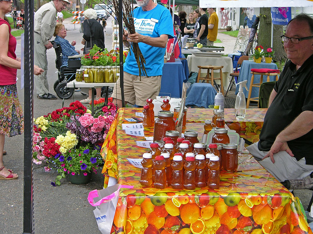 Judson Street Fest 2013 honey and flowers booth