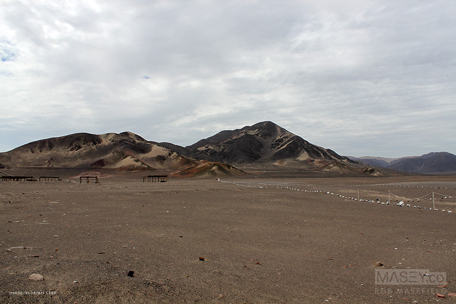 The desert cemetery of Chauchilla, Peru.