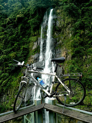 Bike and the Waterfall