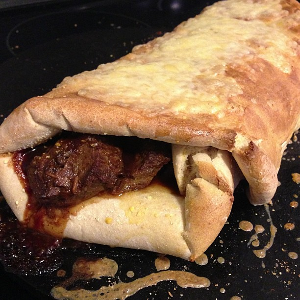 "Homemade BBQ ""hot pocket"""