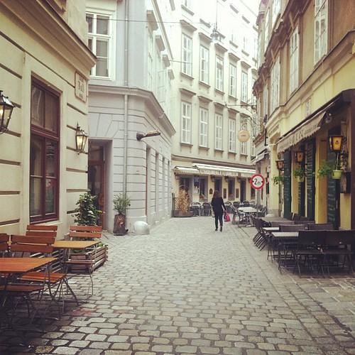 Old city charm, cobblestones.
