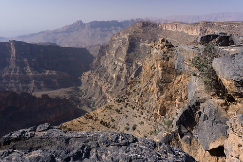 mountain landscape hiking valley oman viewpoint jebelshams addakhiliyah