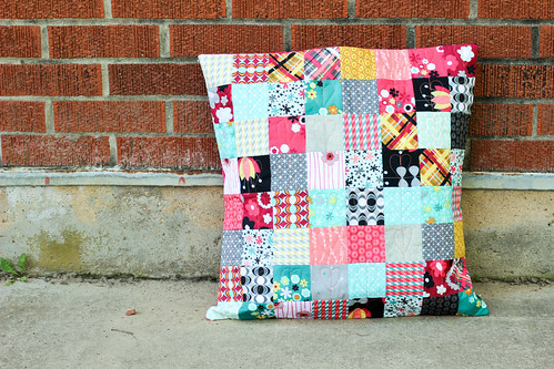 Nordika Patchwork Pillow by Jeni Baker