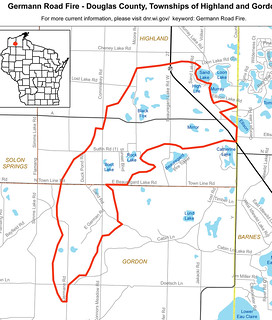 Germann Road Fire Map