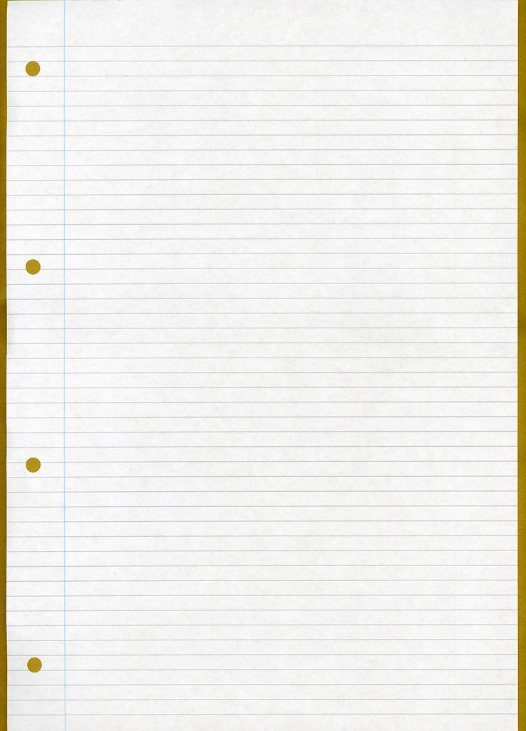 Ruled / lined paper
