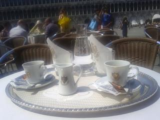 le café Florian, le plus cher de la place Saint-Marc...