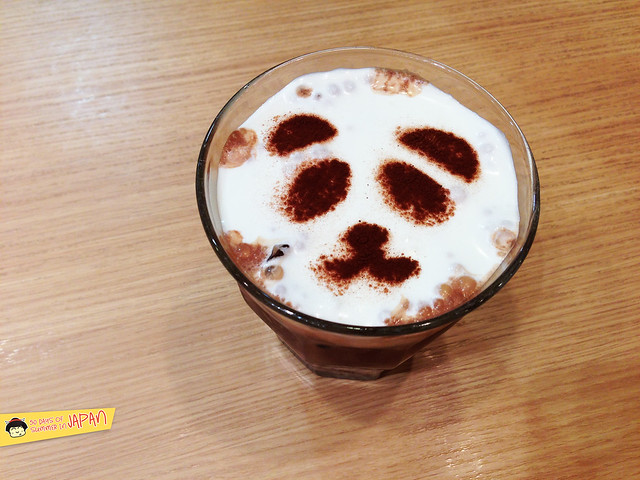 UP CAFE panda iced hot chocolate