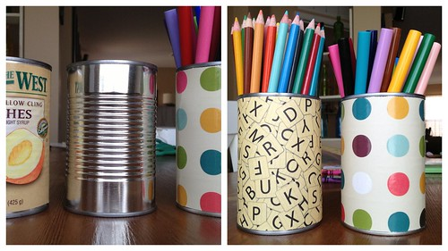 crafting cans by Heather Says
