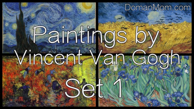 Paintings by Vincent Van Gogh, Set 1 (free flash card video featuring 10 famous paintings)
