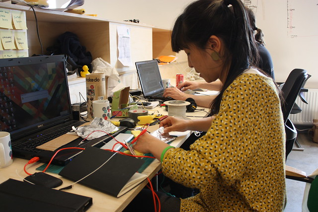 Image of Akiko trialling physical interfaces