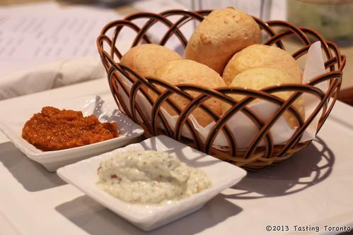 Pao de Queijo cheese balls Cafune Toronto Brazilian food