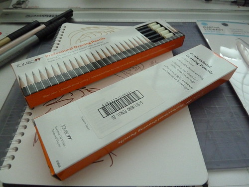 Dozen box of Tombow Professional drawing pencils