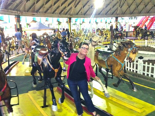 Mod Betty at the Derby Racer Rye Playland Amusement Park Rye NY