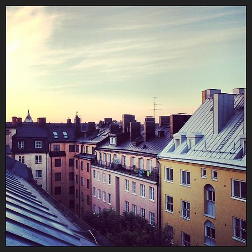 Utsikt från takterrassen #östgötagatan