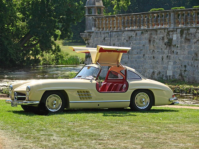 Schloss Dyck Classic Days 2013 - Mercedes Flügeltürer por Jorbasa, en Flickr