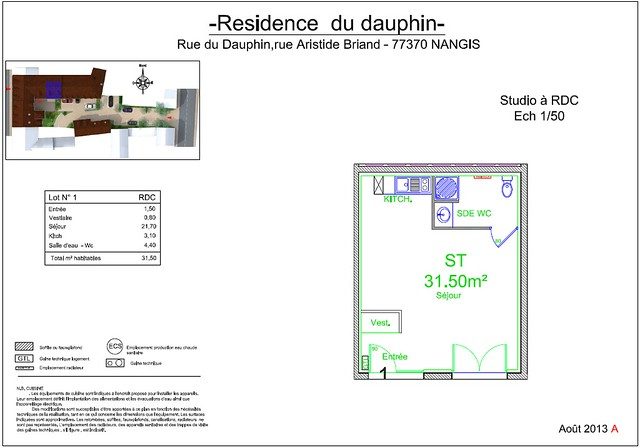Résidence du Dauphin - Plan de vente - Lot n°1