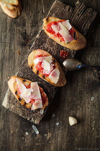 Crostini With Fresh Tomatoes And Parmesan