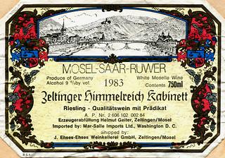 Zeltinger Himmelreich 1983 (Mosel)