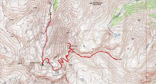 Handies Peak and Pt. 13,795 Topo Map