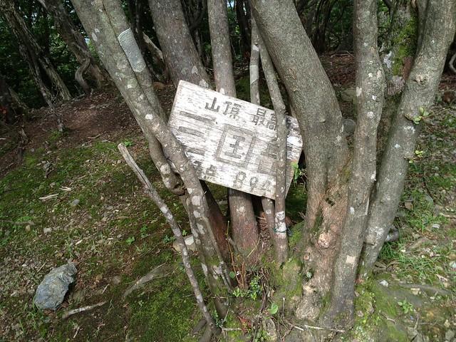 三国岳山頂