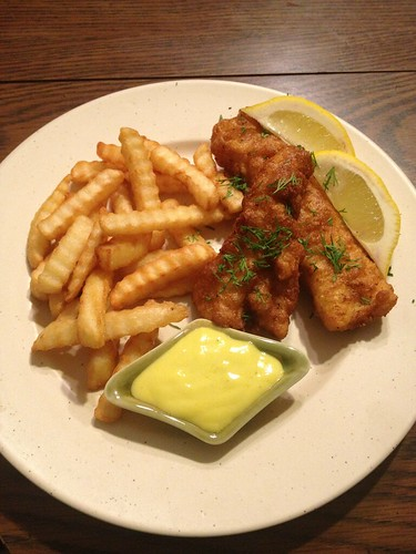 The bitten word fish and chips with malt vinegar mayonnaise for Fish and chips vinegar