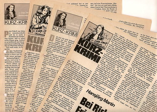 "Hansjörg Martin (1920 - 1999) 1980 Kurzkrimi-Serie ""Dr. Katja Kamps - Rechtsanwältin"" in ""Woche aktuell"" (Heinrich Bauer Verlag) , Stories teilweise  nachgedruckt im Sammelband ""Tod im Dutzend"", 1983 als Goldmann-Taschenbuch http://krimilexikon.de/martin-"