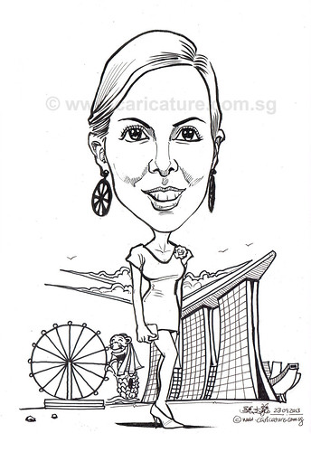 caricature for Siemens Pte Ltd