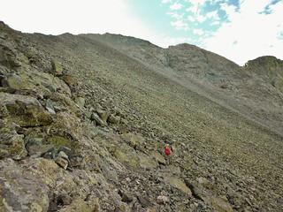Traversing to Blanca Peak from Ellingwood Point