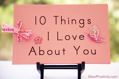 """10 Things I Love About You"" Book"
