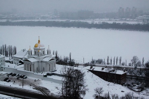 Church on the banks of the Oka River