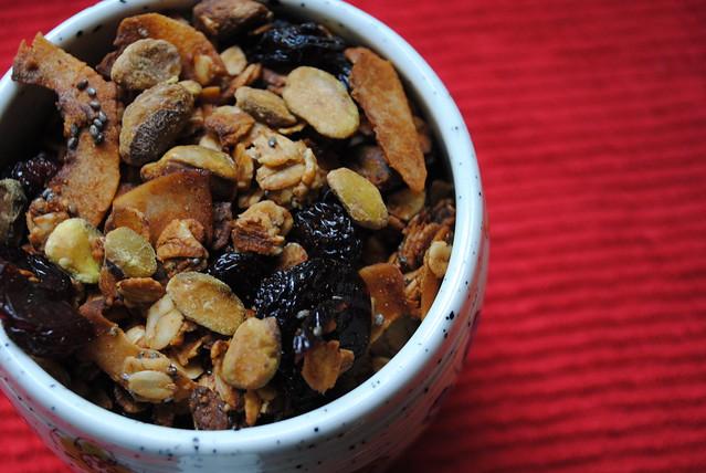 Cherry Coconut Pistachio Granola