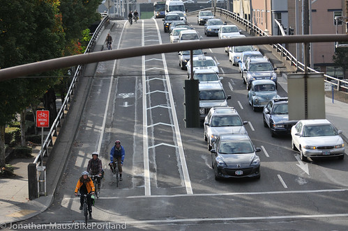 New bike lane on Hawthorne Bridge viaduct-10