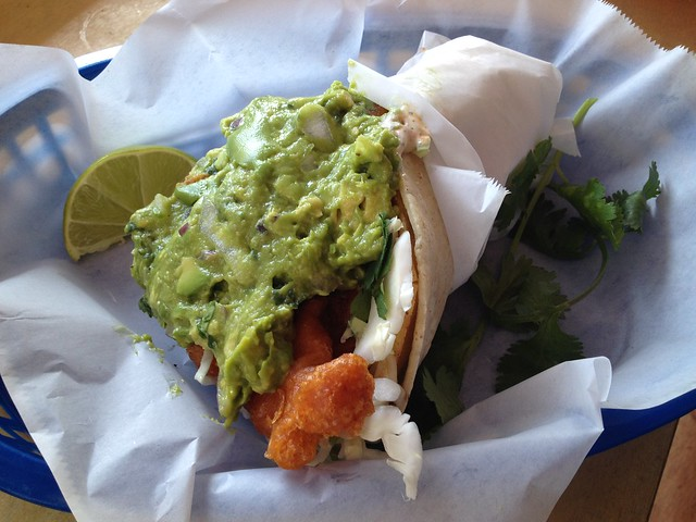 Baja style fish taco made Nick's way - The Taco Shop at Underdogs