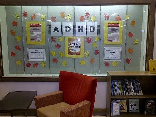 ADHD display at Woodward Library UBC
