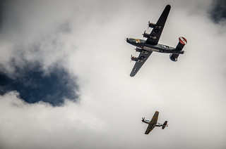 B-24 and P-51