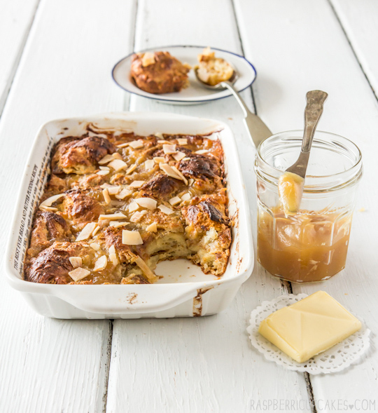 Coconut Croissant Pudding with Kaya