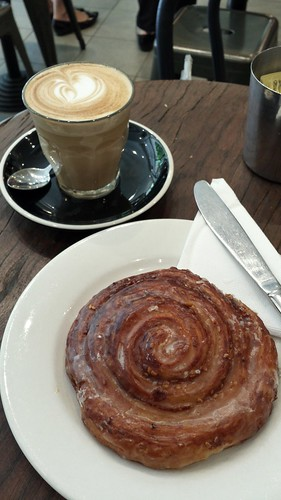 Latte & Tahini Cinnamon Scroll