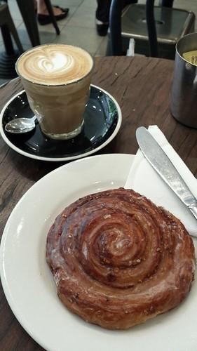 Latte & Tahini Cinnamon Scroll
