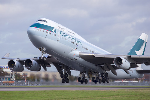 B-HUE Boeing 747 Cathay Pacific