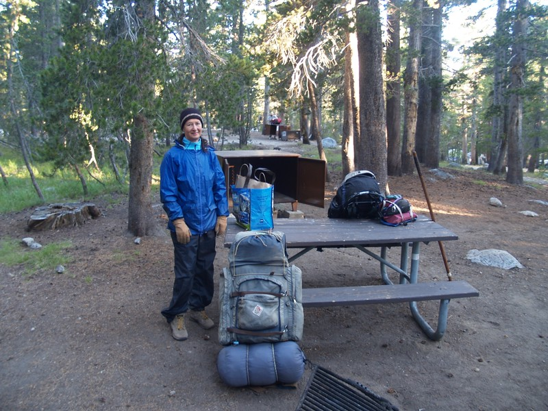 Morning in the Backpackers Campground - ready to hit the trail for ten days