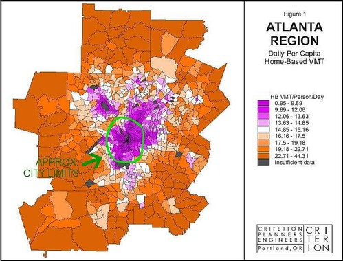 Distribution of driving rates, metro Atlanta (courtesy of Criterion Planners)
