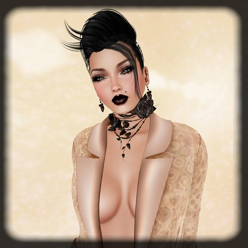 PM Dresha Blazer in Retro Toast MESH1 by Orelana resident