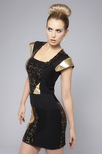 Gold Cutaway Dress