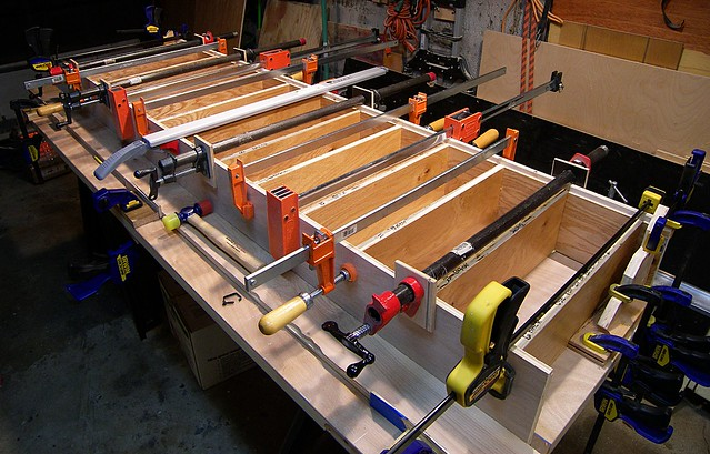 The Glue-Up (or Foosball?)