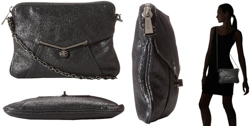 Botkier Valentina Hipster Cross Body,Black Crystal,One Size