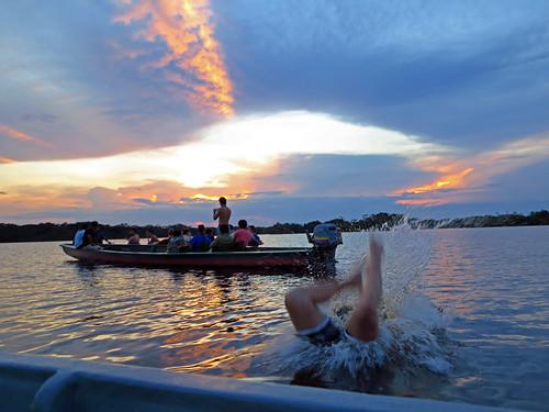 Sunset Cuyabeno Lagoon