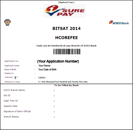 BITSAT 2014 Application Form Filling Guide   bits  Image