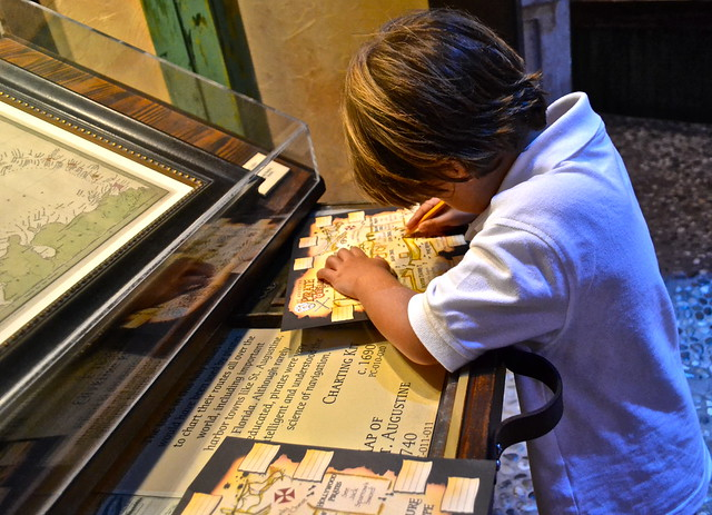 interactive games at the pirate musuem