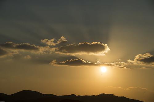 sunset red canon nikon 日本 hdr kamogawa 千葉県 房総半島 bosou mineoka 鴨川市 嶺岡 last2013