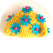 BC Granny Hat for Blythe: yellow/turquoise/hot pink by Gaia / *Bambina Carabina*